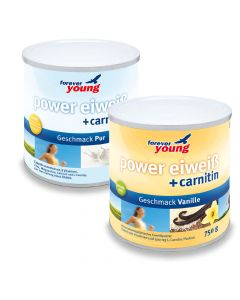 forever young power eiweiss Dosen 2er-Set, Vanille & Pur