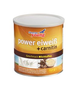 forever young power eiweiss Dose Milchkaffee