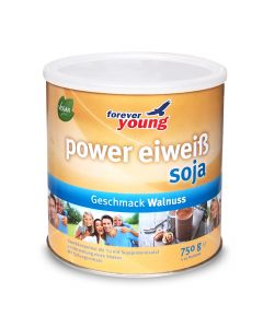 forever young power eiweiss Dose soja Walnuss